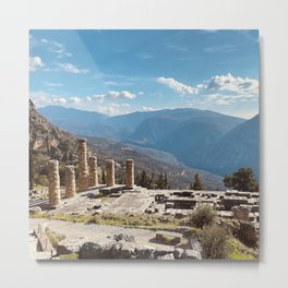 Oracle of Delphi, Pytho, Greece lovers, ancient Greece photography, Greek temple, Delphi Oracle Metal Print