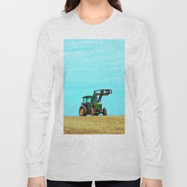 Tractor and Hay Roll on the Ridge Long Sleeve T-shirt