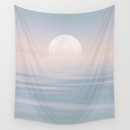 Moon Over Calm Waters Wall Tapestry