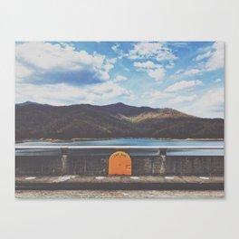 Life Ring On Fontana Damn • Appalachian Trail Canvas Print