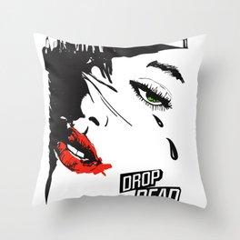 drop dead gorgeous - femme fatale Throw Pillow