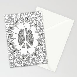 Peace Doodle Stationery Cards