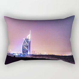 Sun rises, Burj Al Arab Wakes You Up Rectangular Pillow