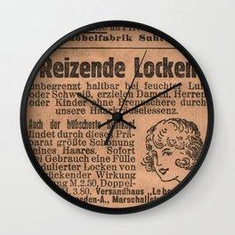Funny German Vintage Advertising Reizende Locken Wall Clock