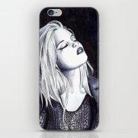 sky ferreira iPhone & iPod Skins featuring Sky Ferreira Noir by Asquared2Art