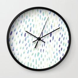 Watercolor Mink - Mint & Sapphire Wall Clock