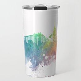 New York City Skyline colored Travel Mug