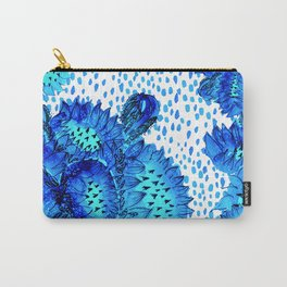 Flowers of Paradise - In Skuba Blue and Aqua Carry-All Pouch