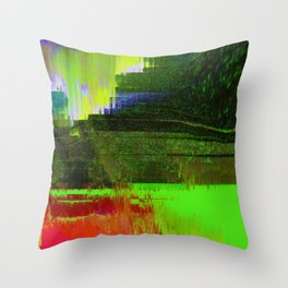 Memories of Green Throw Pillow