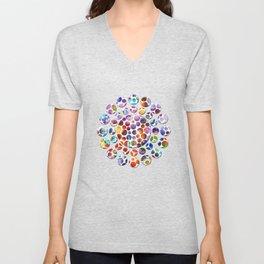 Dots on Painted Background 5 Unisex V-Neck