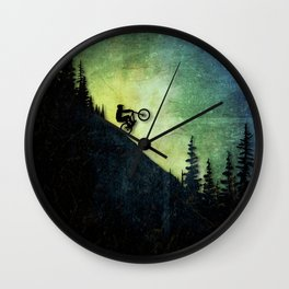 Downhill Colors Wall Clock