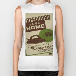 Vintage poster - Safeguard Your Home Biker Tank