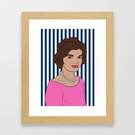 Jacqueline Kennedy Onassis Framed Art Print