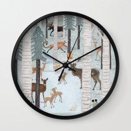 little deer wood Wall Clock