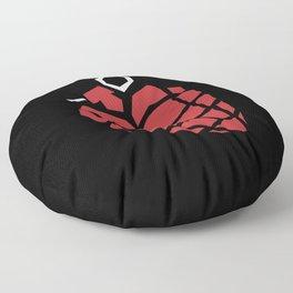 Heart Grenade Floor Pillow