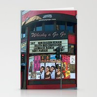 whisky Stationery Cards featuring The Whisky A Go Go by Barbara Gordon Photography
