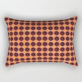 fire fighter graphic art quilt Rectangular Pillow