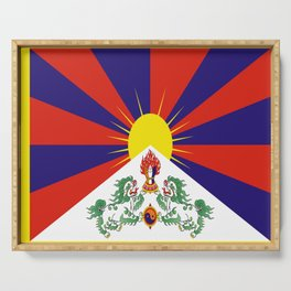 flag of Tibet Serving Tray