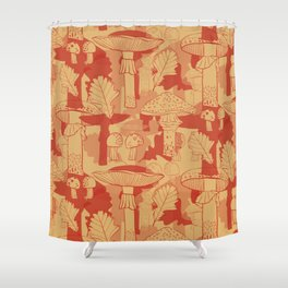 Red Hot Summer: Fly Agaric Shower Curtain
