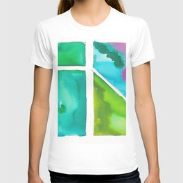 180811 Watercolor Block Swatches 9 | Colorful Abstract |Geometrical Art T-shirt