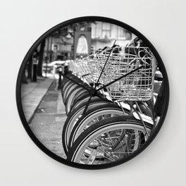 Bike Rack in Dublin Wall Clock