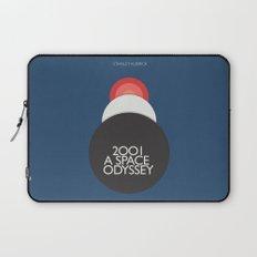2001 a Space Odyssey, Stanley Kubrick alternative movie poster - dark blue  canvas - interior design Laptop Sleeve