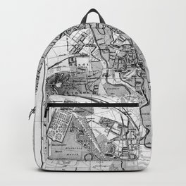 Vintage Map of Hanover Germany (1895) BW Backpack