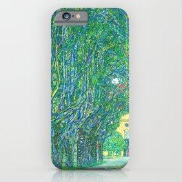 Gustav Klimt - Allee im Park von Schloss Kammer (new editing) iPhone Case