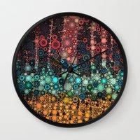 michigan Wall Clocks featuring :: Michigan Morning :: by :: GaleStorm Artworks ::