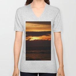 Sunset Shadows Unisex V-Neck