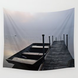 Misty Adirondack Dawn: A Duck's Paradise Wall Tapestry