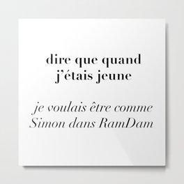 RamDam Metal Print