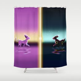 Espeon And Umbreon Shower Curtain