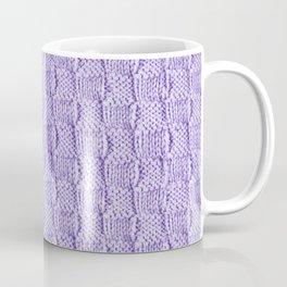 Soft Lilac Knit Textured Pattern Coffee Mug