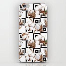 Cotton Flower Pattern 06 iPhone Skin