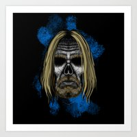 Iggy style Errorface Skull Art Print