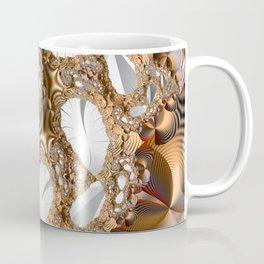 Silver leaves on golden glow -- A fractal landscape Coffee Mug