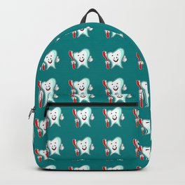 Dental Care happy Tooth with Toothbush Backpack