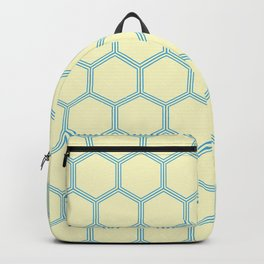 Bright Yellow Blue  Geometrical Pattern Design Backpack