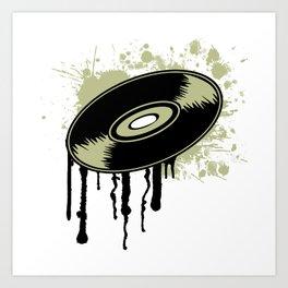 Vinyl Splatter Art Print