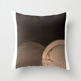 Dark Night Sepia Throw Pillow