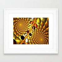 fractal Framed Art Prints featuring Fractal by Digital-Art