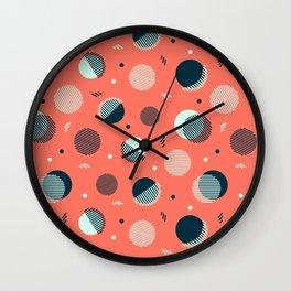 Pink Orbs Wall Clock
