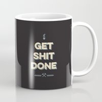 get shit done Mugs featuring Get Shit Done by Alisha Henry