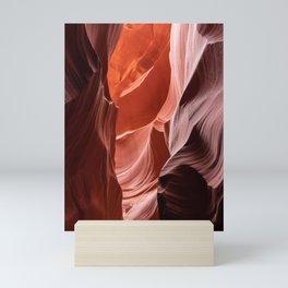 Shades of orange, Lower Antelope Canyon, AZ Mini Art Print