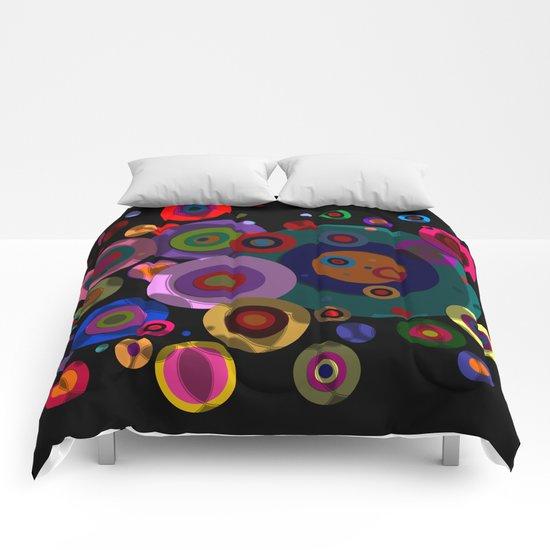 Abstract #320 Circles & Shadows Comforters