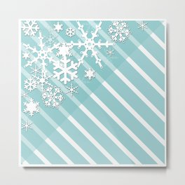 Winter . Paper snowflakes. Metal Print