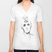 gypsy V-neck T-shirts featuring Gypsy by Harriet Hendricks