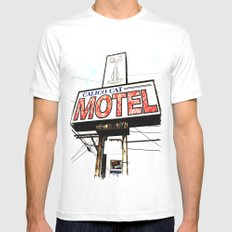 Kitty Motel MEDIUM White Mens Fitted Tee