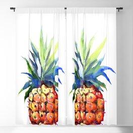 Pineapple, pina-colada, pineapple kitchen tropical design Blackout Curtain
